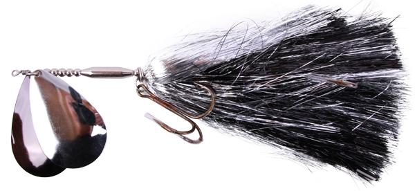 Mega Twin Spinner, een topper voor het vissen op grote snoek (keuze uit 3 opties) - Black/Silver