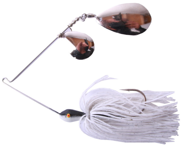 Gary Yamamoto Spinnerbait CI (keuze uit 9 opties) - 225 White/Silver Flake