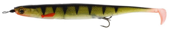 Westin KickTeez Shadtail 15cm Rigged, 2 stuks (keuze uit 7 opties) - Striped Perch