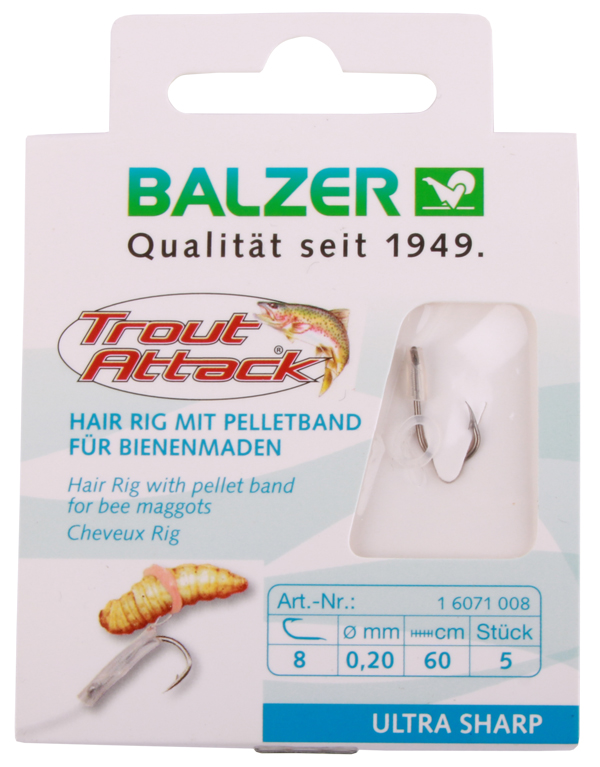 Balzer Trout Attack Bee Maggot Hair Rigs (keuze uit 3 opties)