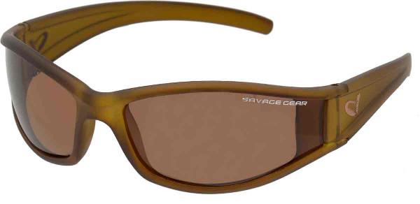 Savage Gear Shades Floating Polarized Sunglasses (Keuze uit 4 opties) - Slim Shades Amber
