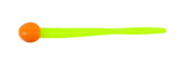 Berkley Powerbait Mice Tail 7,5cm (Keuze uit 3 opties) - Orange Silver / Chartreuse