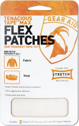 Gear Aid McNett Max Flex Patches, voor het repareren van van stof en vinyl! (2 stuks)