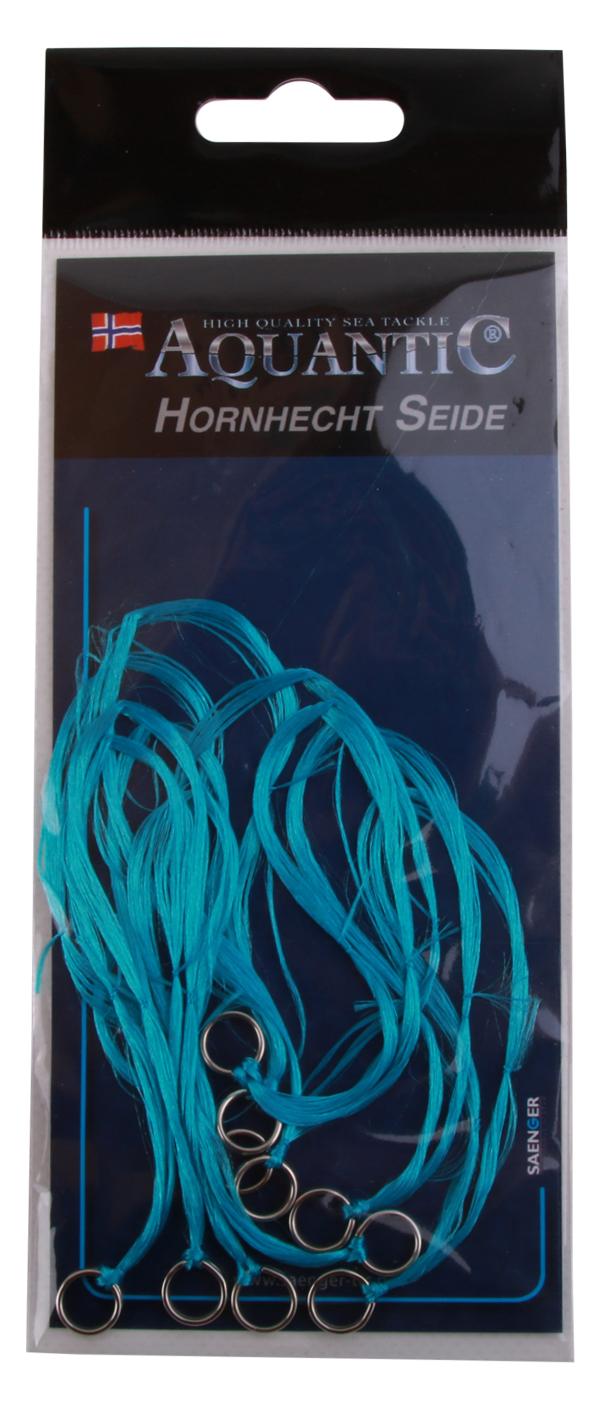 Aquantic Needlefish Silk, extra vangkans op kunstaas voor geep! 10 stuks (keuze uit 6 kleuren) - Blue