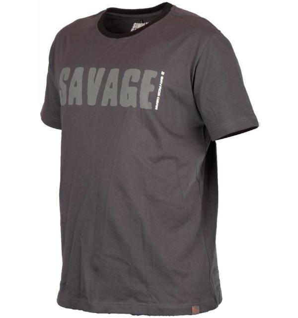 Savage Gear Simply Savage Tee Maat S t/m XXL (keuze uit 2 kleuren) - Grey