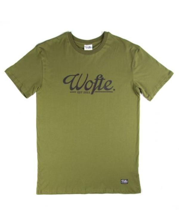 Wofte Est.11 T-Shirt (Keuze uit 4 opties) - Light Olive: