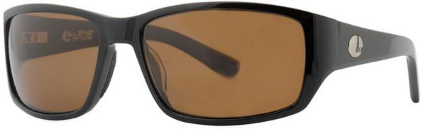 Lenz Optics Helmsdale Polarised Sunglasses (keuze uit 4 opties) - Black w/Brown Lens