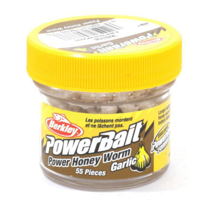 Berkley Powerbait Honey Worms Garlic (keuze uit 3 opties)
