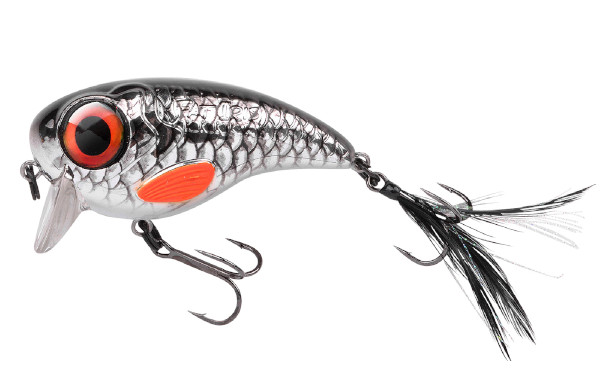 Spro Fat Iris 80 + Spro Stainless Wire Leaders (Keuze uit 12 opties) - Shining Roach