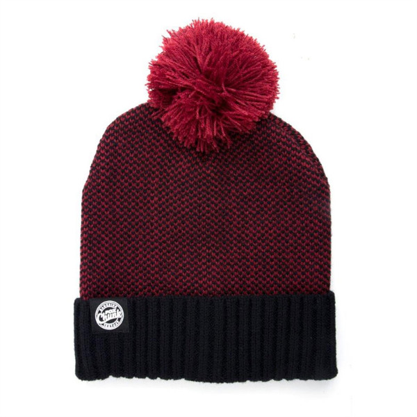 Fox Chunk Mutsen (Keuze uit 3 opties) - Burgundy / Black Bobble Hat