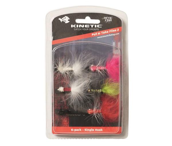 Kinetic Put And Take Flies 2, 6 stuks