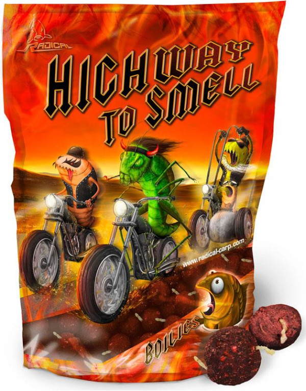 1kg Radical Highway to Smell Boilies (Keuze uit 2 opties)