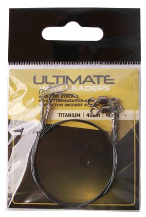 Ultimate Titanium Leader 40cm 40lbs 2 stuks