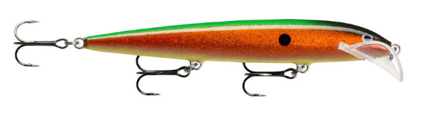 Rapala Scatter Rap Husky 13 (Keuze uit 20 opties) - Hologram Flake Copper Green: