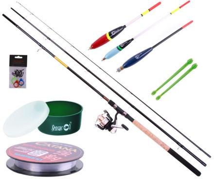 Match Set met Sensas hengel, Shimano molen en allerlei accessoires!