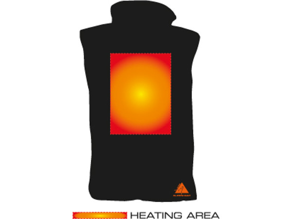 Alpenheat Verwarm Vest Fire-Softvest (maat S-XXL)
