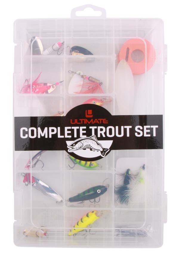 Ultimate Trout Set met spinners, streamers, lepels en meer!