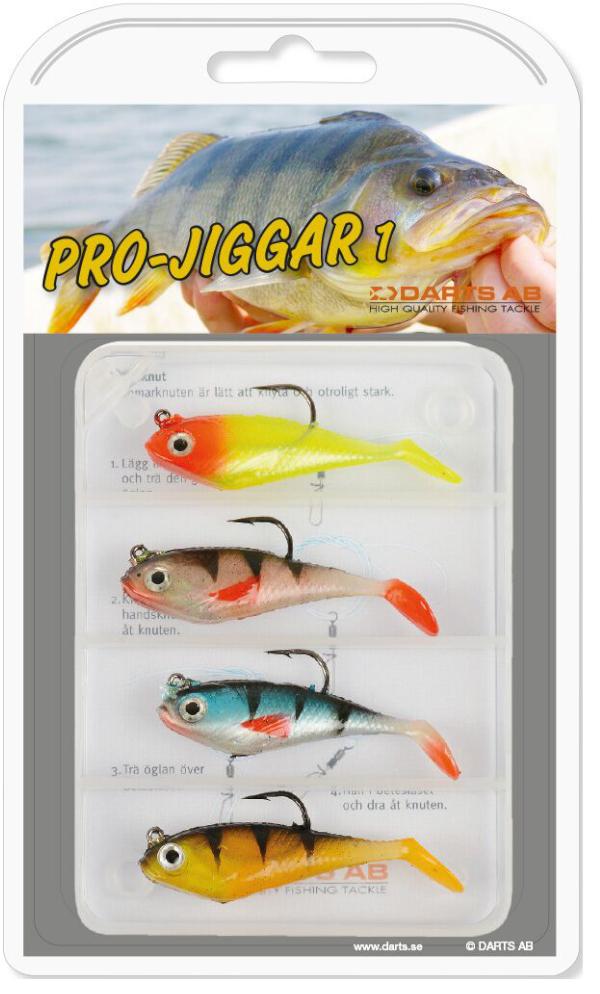 Darts Pro Jiggar Set met 4 Shads (keuze uit 3 opties)