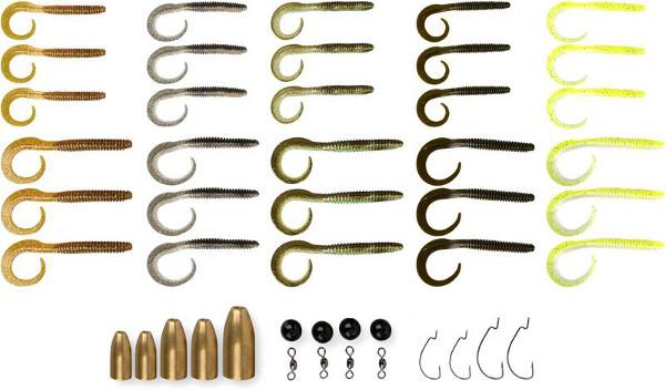 Savage Gear Rib Worm Kit, klaar voor de carolina en texas rig!