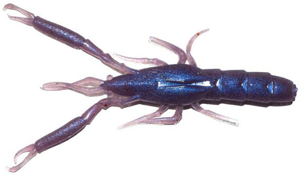 "Megabass Honjikomi It-Shrimp 5"", 6 stuks (keuze uit 7 opties) - Natural Pro Blue"