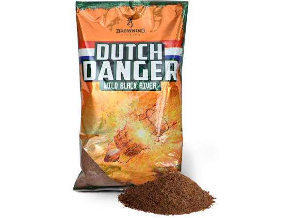 Browning Dutch Danger Groundbait, 3 zakken á 1.0kg (keuze uit 3 opties) - Browning Dutch Danger Groundbait 1.0kg - Wild Black River: