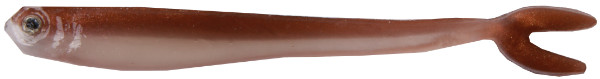 "Fishbelly Hawg Shads Split Tail 2,8"", 7 stuks (keuze uit 14 opties) - Copperback"