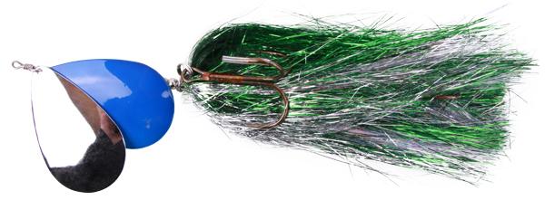 Mega Twin Spinner, een topper voor het vissen op grote snoek (keuze uit 3 opties) - Green/Silver