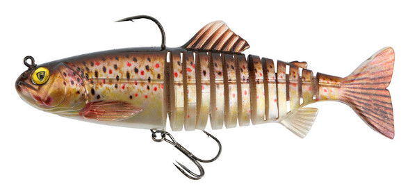 Fox Rage Replicant Super Natural Trout Jointed & Wobble (Keuze uit 6 opties) - Jointed Brown Trout: