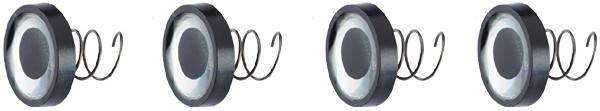 Balzer UV-Active Eyes, softbait ogen met schroefdraad! (keuze uit 3 opties) ~~