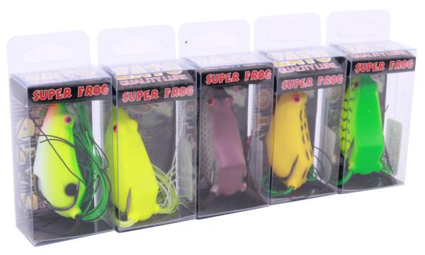 Kato Super Frogs (keuze uit 5 opties) - Green, Fluo, Purple, Yellow, Green Tiger
