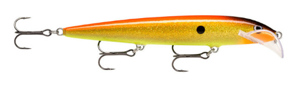 Rapala Scatter Rap Husky 13 (Keuze uit 20 opties) - Hologram Flake Gold Fluo Red: