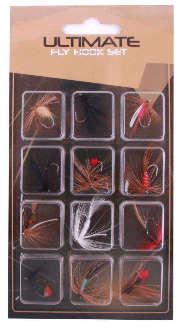 Ultimate Fly Set, 12 kunstvliegen!