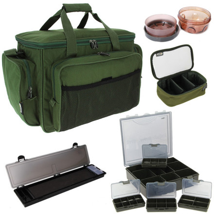 Carp Carryall Kit met Tacklebox, Dip Pots, Bit Boxes, Lead Bag en meer!