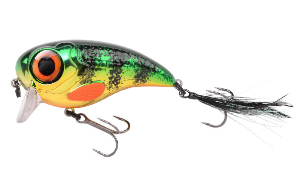 Spro Fat Iris 80 + Spro Stainless Wire Leaders (Keuze uit 12 opties) - Chrome Perch