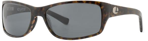 Lenz Optics Laxa Polarised Sunglasses (keuze uit 4 opties) - Green/Coffee w/Grey Lens