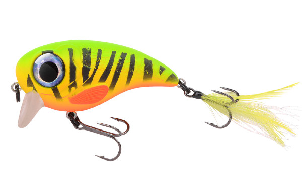 Spro Fat Iris 80 + Spro Stainless Wire Leaders (Keuze uit 12 opties) - Fire Tiger