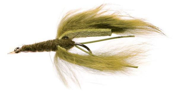 Unique Flies Crayfish Zonker (keuze uit 2 opties) - Dark Olive