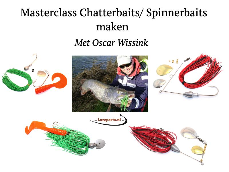 Lureparts Masterclass: zelf Spinnerbaits en Chatterbaits maken