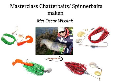 Lureparts Masterclass: zelf Spinnerbaits en Chatterbaits maken