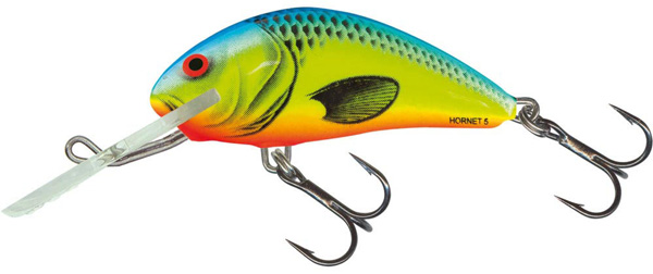 Salmo Hornet 5cm Floating (keuze uit 5 opties) - Chartreuse Blue (CHB)