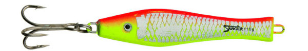Aquantic 3D Holo Pilker 125g (Keuze uit 5 opties) - Red / Yellow
