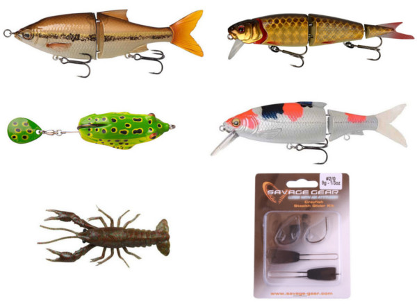 Savage Gear Pro Pack - Medium Lures met hardbaits, softbaits en een kikker!
