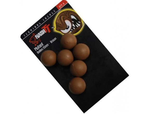 Nash Mutant Boilies (verkrijgbaar in verschillende diameters en kleuren) - Brown
