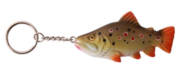 Real Trophy Sleutelhanger (keuze uit 7 vissoorten) - Brown Trout