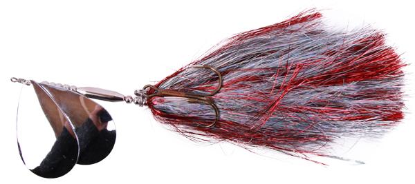 Mega Twin Spinner, een topper voor het vissen op grote snoek (keuze uit 3 opties) - Silver/Red