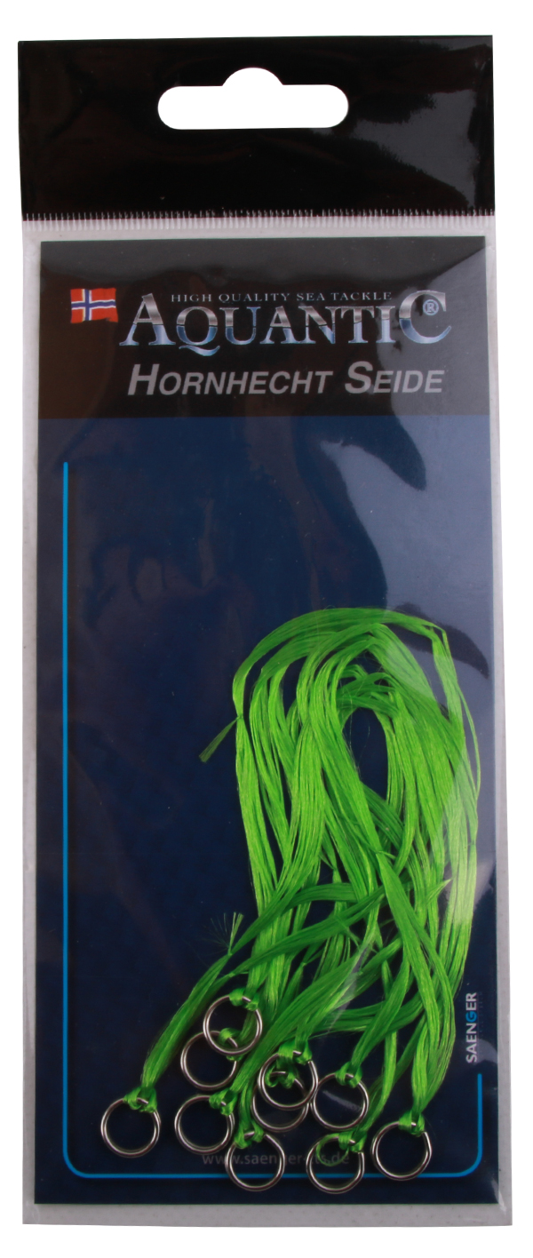 Aquantic Needlefish Silk, extra vangkans op kunstaas voor geep! 10 stuks (keuze uit 6 kleuren) - Green