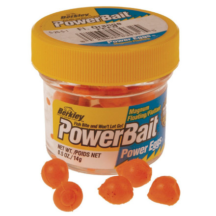 Berkley Powerbait Floating Eggs 'Fluo Orange' 40 stuks