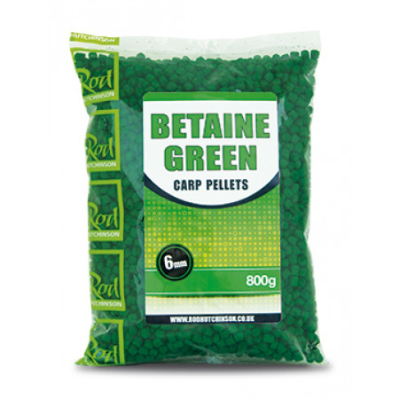 Rod Hutchinson Carp Pellets (keuze uit meerdere opties) - Rod Hutchinson Carp Pellets 'Betaine Green' 6mm (800g)