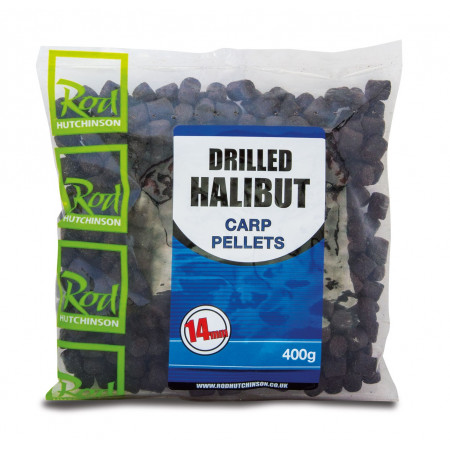 Rod Hutchinson Voorgeboorde Halibut Pellets 400g - Rod Hutchinson Voorgeboorde Halibut Pellets 14mm (400g)