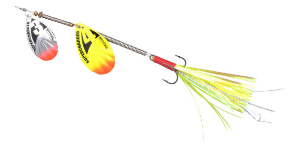Spro Supercharged Tandem Spinner 20cm (keuze uit 6 opties) - Yellow Unweighted